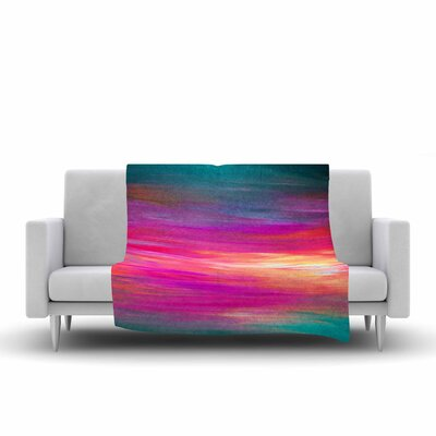 Ebi Emporium Bright Horizons 2 Painting Fleece Throw Size: 60 W x 80 L