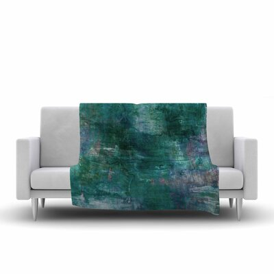 Ebi Emporium Planet Painting Fleece Throw Size: 50 W x 60 L