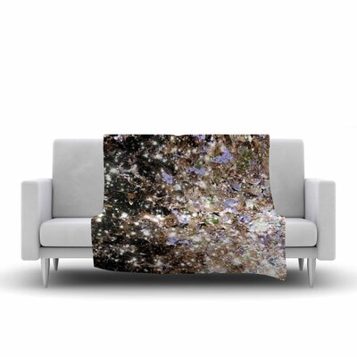 Ebi Emporium Cocoa Nebula Painting Fleece Throw Size: 50 W x 60 L