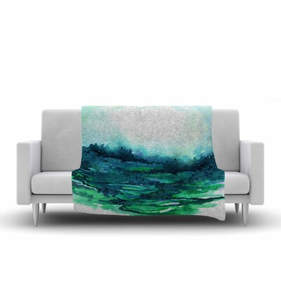 Ebi Emporium the Long Road 7 Watercolor Fleece Throw Size: 50 W x 60 L