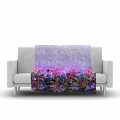 Ebi Emporium Natures Living Room, Painting Fleece Throw Size: 60 W x 80 L, Color: Purple