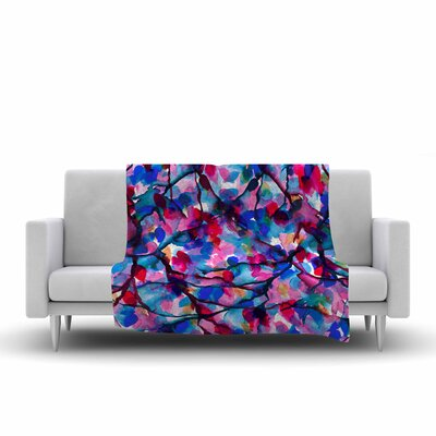 Ebi Emporium by Any Other Name 2 Watercolor Fleece Throw Size: 60 W x 80 L