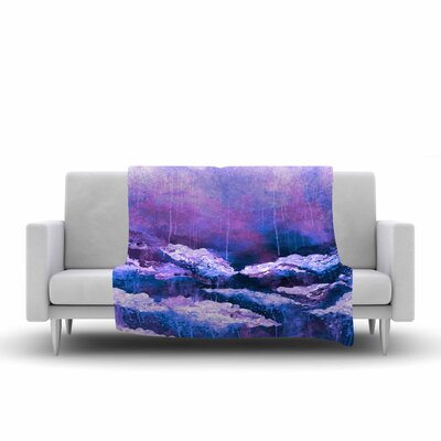 Ebi Emporium Its a Rose Colored Life 7 Painting Fleece Throw Size: 50 W x 60 L