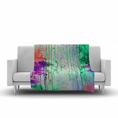 Ebi Emporium the 90s Throwback Painting Fleece Throw Size: 60 W x 80 L