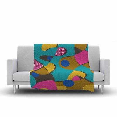 Jacqueline Milton Free Form Vector Fleece Throw Size: 60 W x 80 L