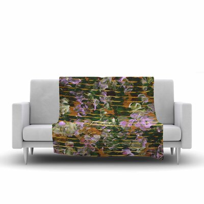 Ebi Emporium Dust Garden Mixed Media Fleece Throw Size: 50 W x 60 L