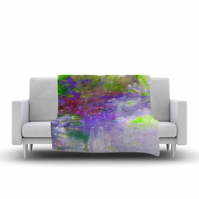Ebi Emporium Carnival Dreams 5 Watercolor Fleece Throw Size: 50 W x 60 L