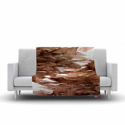 Ebi Emporium Fervor 7 Watercolor Fleece Throw Size: 50 W x 60 L