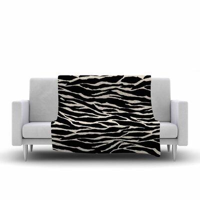 Jacqueline Milton Safari Mixed Media Fleece Throw Size: 50 W x 60 L