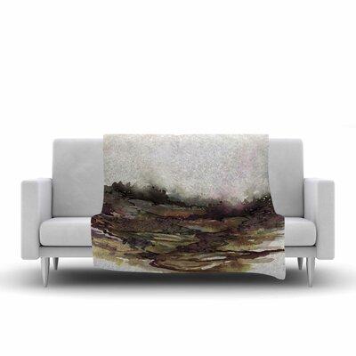 Ebi Emporium the Long Road 1 Watercolor Fleece Throw Size: 60 W x 80 L