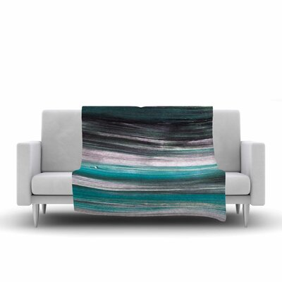 Hitidesign Mixed Brush Strokes Painting Fleece Throw Size: 60 W x 80 L