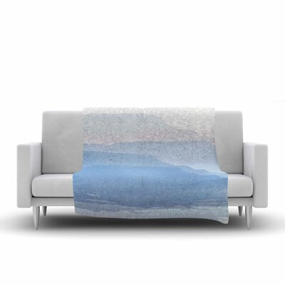 Jennifer Rizzo Layered Mountains Abstract Fleece Throw Size: 60 W x 80 L