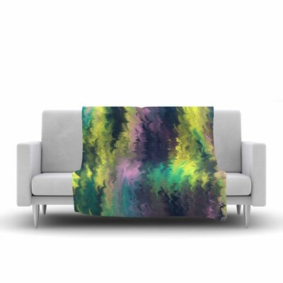 Hitidesign Marbling Color Digital Fleece Throw Size: 50 W x 60 L
