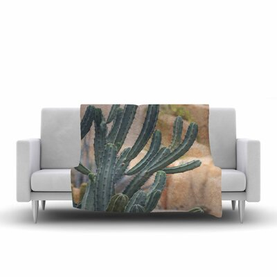Ann Barnes Cactus Jungle II Photography Fleece Throw Size: 50 W x 60 L