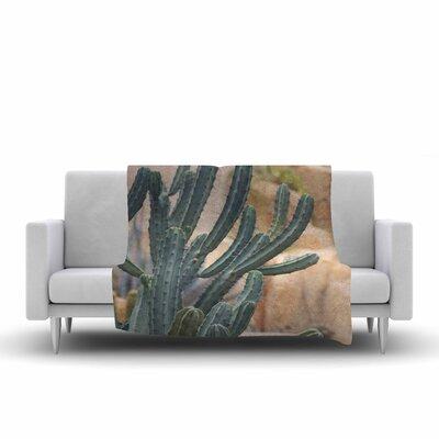 Ann Barnes Cactus Jungle II Photography Fleece Throw Size: 60 W x 80 L