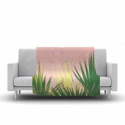 Ann Barnes Neon Jungle II Photography Fleece Throw Size: 50 W x 60 L