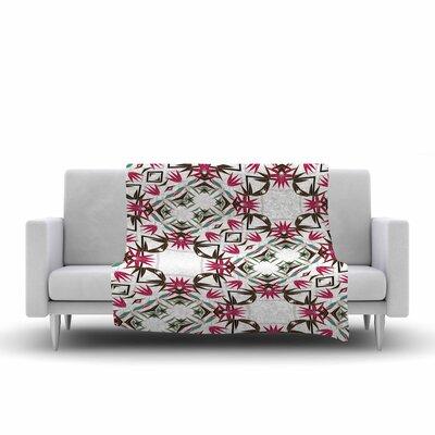 Alison Coxon Tokyo Garden Digital Fleece Throw Size: 50 W x 60 L