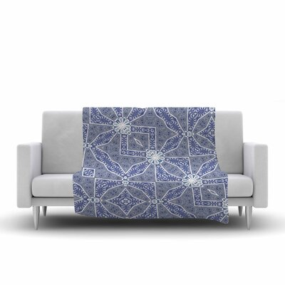 Alison Coxon Santorini Tile Digital Fleece Throw Size: 60 W x 80 L