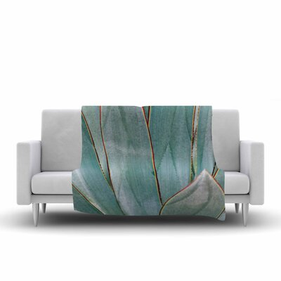 Ann Barnes Agave Abstract Photography Fleece Throw Size: 50 W x 60 L