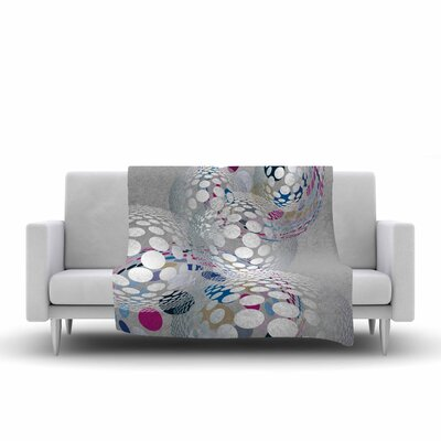 Angelo Cerantola Bubbly Illustration Fleece Throw Size: 50 W x 60 L
