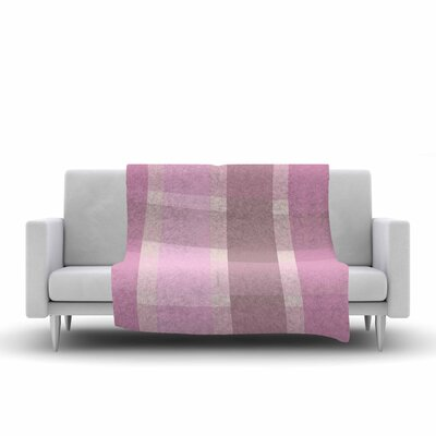Afe Images Plaid Pattern Illustration Fleece Throw Size: 60 W x 80 L