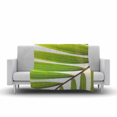 Ann Barnes Jungle Abstract Fleece Throw Size: 50 W x 60 L
