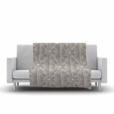 Angelo Cerantola Star Lounge Illustration Fleece Throw Size: 50 W x 60 L, Color: Beige/Tan