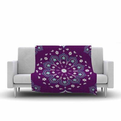 Cristina Bianco Design Mandala Illustration Fleece Throw Size: 60 W x 80 L