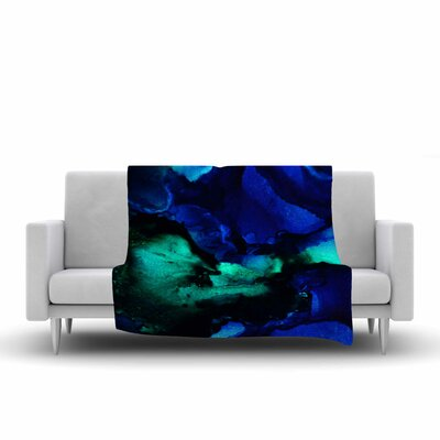 Claire Day Neptune Painting Fleece Throw Size: 60 W x 80 L