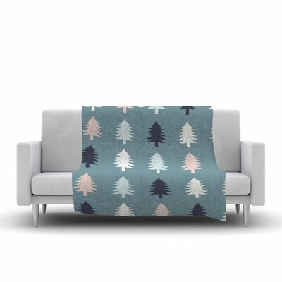 Afe Images Christmas Tree Silhouettes Digital Fleece Throw Size: 60 W x 80 L