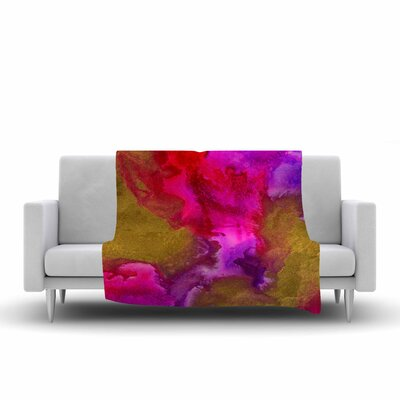 Claire Day Fancy Painting Fleece Throw Size: 60 W x 80 L