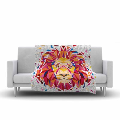 Ancello Lion Digital Fleece Throw Size: 50 W x 60 L