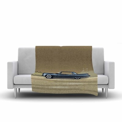 Bruce Stanfield Cadillac Fleetwood 1961 Digital Fleece Throw Size: 50 W x 60 L