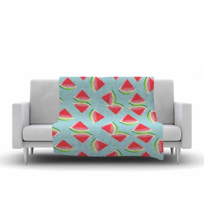 Afe Images Watermelon Slices Pattern Illustration Fleece Throw Size: 60 W x 80 L
