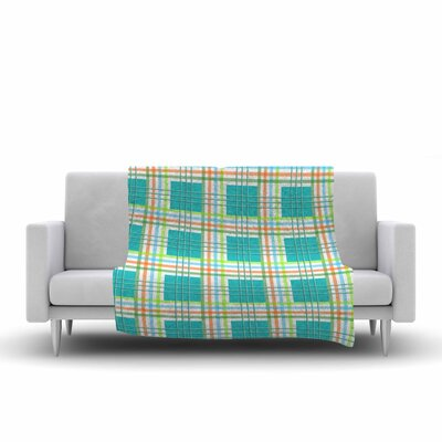 Afe Images Modern Plaid Pattern Illustration Fleece Throw Size: 50 W x 60 L