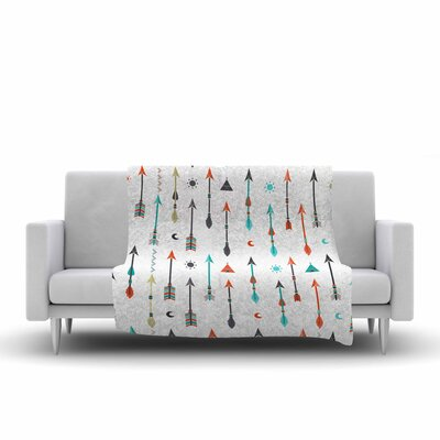 Afe Images Tribal Inspired Arrow Illustration Fleece Throw Size: 60 W x 80 L