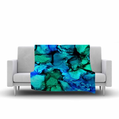 Claire Day Tidal Waves Painting Fleece Throw Size: 60 W x 80 L