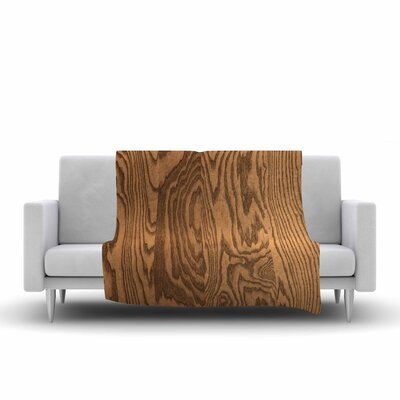 Bruce Stanfield Wood Grain 5 Photography Fleece Throw Size: 50 W x 60 L