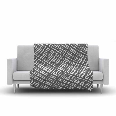 Bruce Stanfield the Bauhaus Grid Digital Fleece Throw Size: 60 W x 80 L
