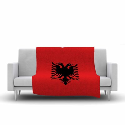 Bruce Stanfield Flag of Albania Digital Fleece Throw Size: 60 W x 80 L