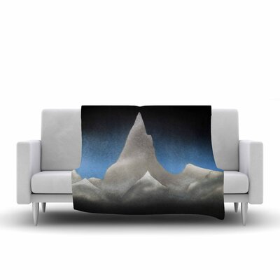 Bruce Stanfield Snowy Mountains Painting Fleece Throw Size: 50 W x 60 L