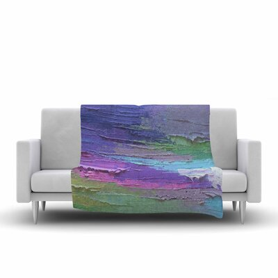 Carol Schiff Four Seasons Spring Painting Fleece Throw Size: 50 W x 60 L