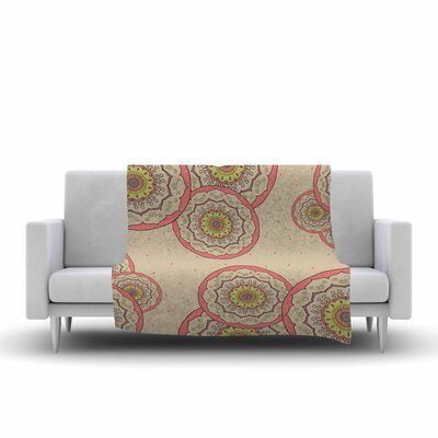 Cristina Bianco Design Mandala Design Illustration Fleece Throw Size: 50 W x 60 L