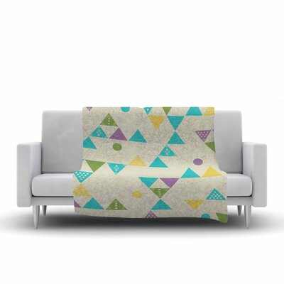 Cristina Bianco Design Triangles Illustration Fleece Throw Size: 60 W x 80 L