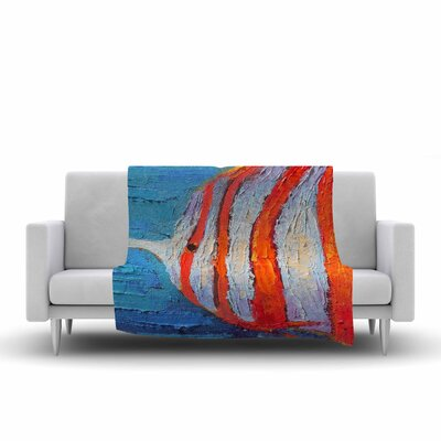 Carol Schiff Reef Fish 1 Painting Fleece Throw Size: 50 W x 60 L
