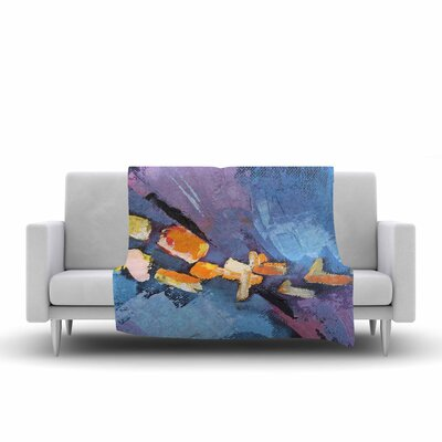 Carol Schiff Mardi Gras Painting Fleece Throw Size: 50 W x 60 L