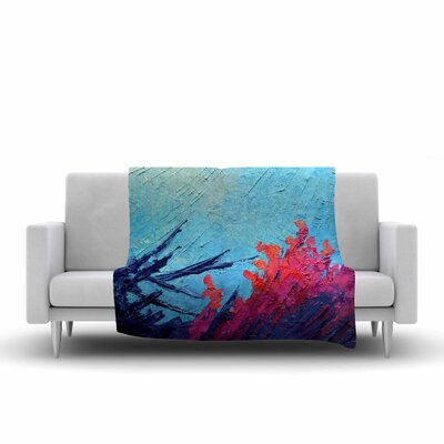 Carol Schiff Reef Painting Fleece Throw Size: 50 W x 60 L