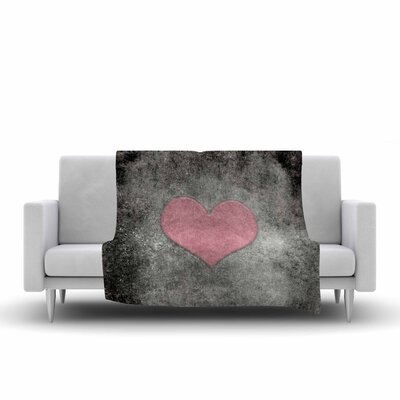 Bruce Stanfield Vintage Valentines Digital Fleece Throw Size: 50 W x 60 L, Color: Pink