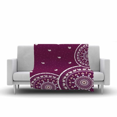 Cristina Bianco Design Mandalas Design Fleece Throw Size: 50 W x 60 L