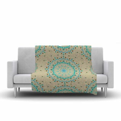Cristina Bianco Design Mandala Painting Fleece Throw Size: 50 W x 60 L